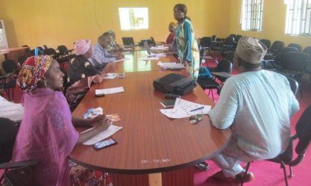 Participants attend a Nasarawa State-level sensitization meeting. 2015