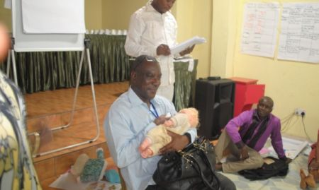 Practical sessions in the LOPIN master training of trainers are held in Lagos. 2015