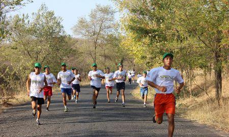 The runners on their 5K run