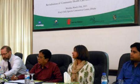 Greg Adams, Dr. Baren Mandal, Anuradha Narayan, and Dr. Yasir Arafat on the dais