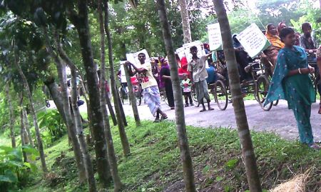 Jalsha Bazaar of Betagi Upazila of Barguna District rickshaw rally