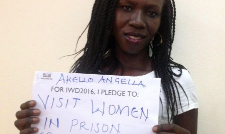 """For IWD '16, I pledge to visit women in prison, especially the mothers"""