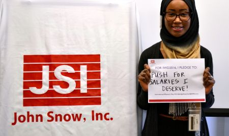 """""""For IWD '16, I pledge to push for salaries I deserve!"""""""
