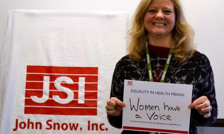"""Equality in health means women have a voice"""