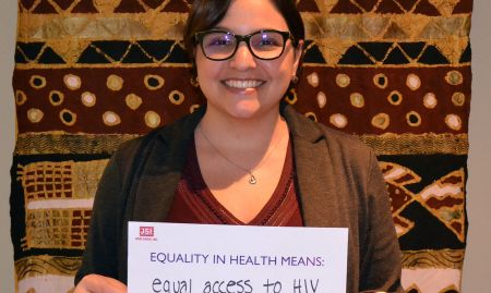 """""""Equality in health means equal access to HIV prevention for women"""""""