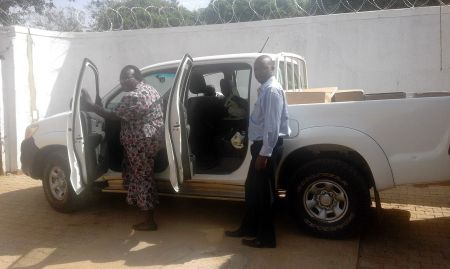 A team of SPRING staff set off for the field to distribute materials to health facilities.
