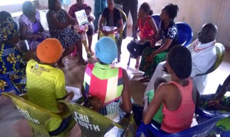 Participants during group counseling training