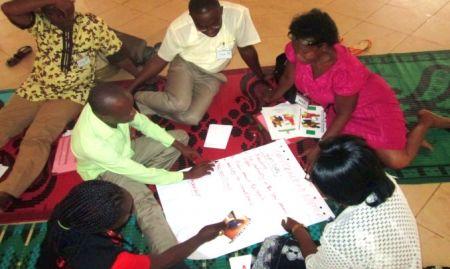 Participants doing group work