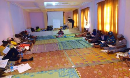 Participants in session