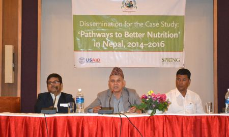 Dr. Yagya Karki, Former Hon. Member, NPC, provided closing remarks for the event