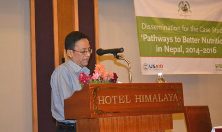 Co-Investigator Madhukar B. Shrestha presents the recommendations of the PBN Nepal case study