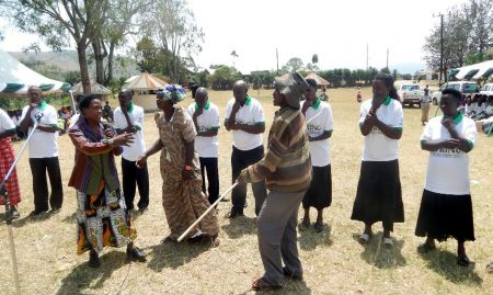 During the commemoration ceremonies, drama groups demonstrated IYCF skills.