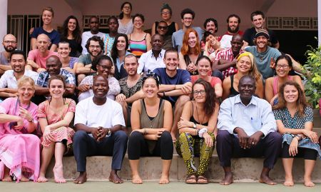 The Peace Corps Guinea training group.