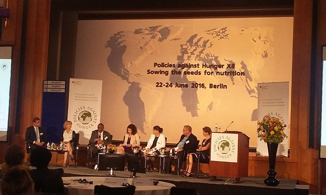 A panel at the Policies against Hunger XII Conference