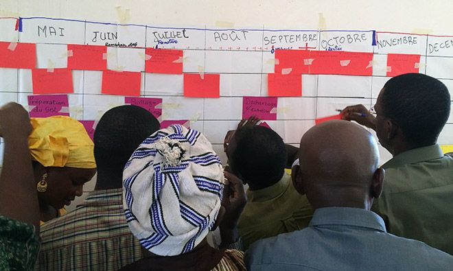 Seasonal calendar exercise during the nutrition-sensitive agriculture training