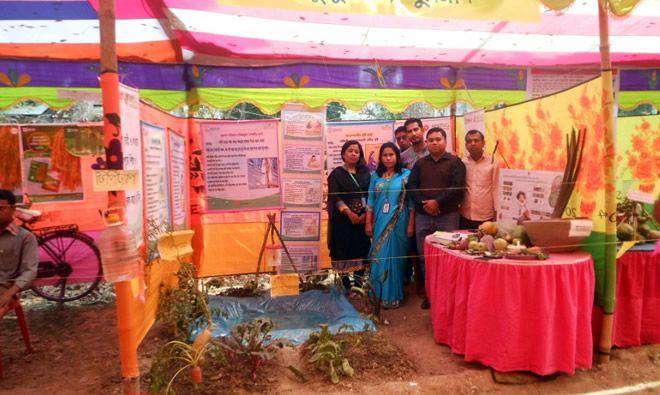 SPRING/Bangladesh staffs a booth at the agricultural fair