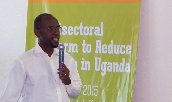 Moses Mutabazi a Nutritionist from Kisoro district