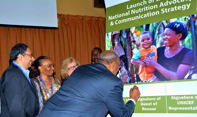 The Prime Minister Rt. Hon Ruhakana Rugunda during the Signing Ceremony (Photo credit: Abel Muzoora)