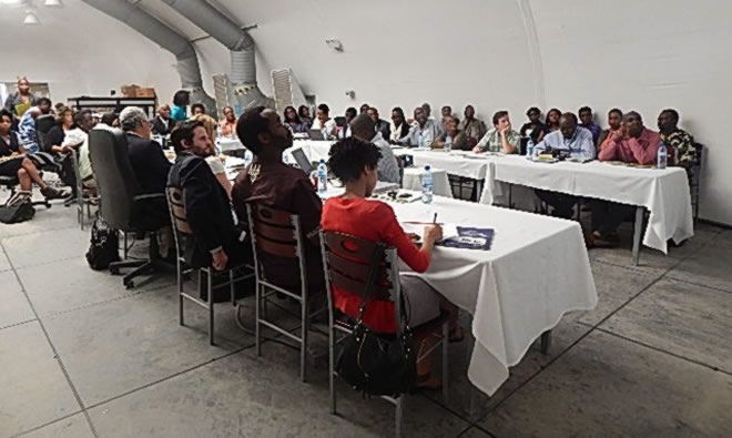 Image from one-day meeting to develop multisectoral strategy to reduce undernutrition in Haiti