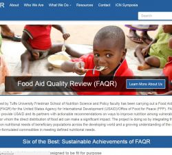 Preview image of the FAQR Homepage