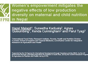 Women's Empowerment Mitigates the Negative Effects of Low Production Diversity on Maternal and Child Nutrition in Nepal