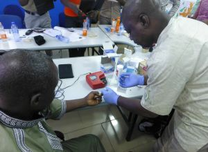 HemoCue training in Tamale, Ghana