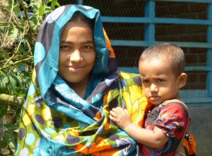 Mother and baby in Bangladesh