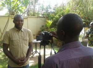 Filming a community video in Niger