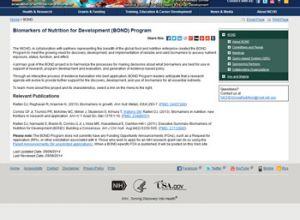 Biomarkers of Nutrition for Development (BOND) Program