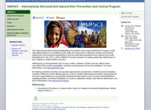 The International Micronutrient Malnutrition Prevention and Control (IMMPaCt) Program