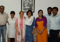 Peggy Koniz-Booher, SPRING Senior Nutrition and SBCC Advisor, and Dr. Suneetha Kadiyala, Principal Investigator and Senior Lecturer of Nutrition-Sensitive Development at LSHTM, participated in an informal meeting with the Jharkhand State Nutrition Mission to discuss potential future areas of collaboration.