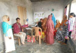 Adolescent receives treatment from Dr. Nusrat Jahan
