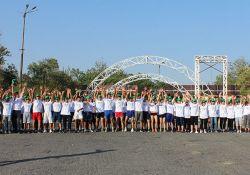 The runners waiting to start their 5K run