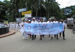 A World Breastfeeding Week rally takes place in Bhola Sadar upazila
