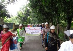 A World Breastfeeding Week rally takes place in Chitalmari upazila