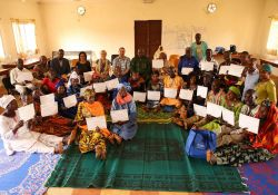 Participants received certificates for completing the MICYN training.