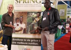 SPRING/Senegal Chief of Party Bob de Wolfe and Agriculture Advisor Aliou Babou attend the fair to speak about the project's activities.