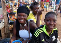 Young girls at market