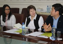 Nora Madrigal (USAID), Aisha Zhorobekova (USAID), and Il Hyong Won (Good Neighbors)