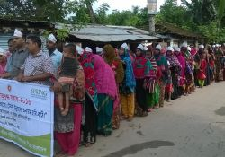 FNS members participate in a World Breastfeeding Week rally in Keshabpur upazila