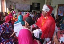 A World Breastfeeding Week event in Narail Sadar upazila