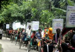 Charkalmi Union of Charfession of Bhola District rickshaw rally