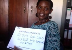 """For IWD '16, I pledge to reduce girl child hunger and undernutrition"""