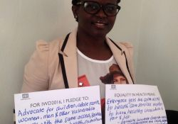 """""""For IWD '16, I pledge to advocate for children, adolescents, women, men, and other vulnerable groups with the same: access, services, and resources for health, nutrition, and food security. Equality in health means: everyone gets the same access to health care services in order to have healthy lives, which is fair and just. Equality, however, doesn't take into consideration the social, economic, and cultural status of an individual"""""""