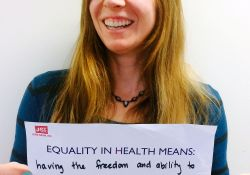 """Equality in health means having the freedom and ability to make good choices about your own and your family's health"""
