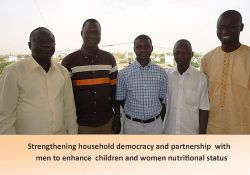 """Strengthening household democracy and partnership with men to enhance children and women nutritional status"""