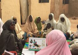 C-IYCF support group meetings, like this one in Kasuwan Magani ward, Kajuru LGA, draws the participation of newly married women, pregnant women, mothers of young children, and grandmothers.
