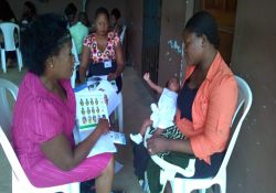 Participants during one-on-one counseling training
