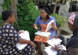 Participants carrying out a one-on-one counseling session at Family Health Clinic Area 2, Abuja
