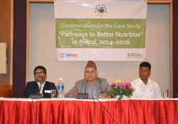 Dr. Yagya Karki, Former Hon. Member, NPC, provided closing remarks for the event